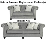 Ashley® Tiarella Ash replacement cushion cover, 7290138 sofa or 7290135 love