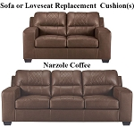 Ashley® Narzole Coffee replacement cushion cover, 7440238 sofa or 7440235 love