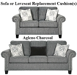 Ashley® Agleno Charcoal replacement cushion cover, 7870138 sofa or 7870135 love