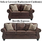 Ashley® Breville Espresso replacement cushion cover, 8000338 sofa or 8000335 love