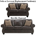 Ashley® Breville Charcoal replacement cushion cover, 8000438 sofa or 8000435 love