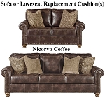 Ashley® Nicorvo Coffee replacement cushion cover, 8050538 sofa or 8050535 love