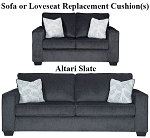 Ashley® Altari Slate replacement cushion cover, 8721338 sofa or 8721338 love