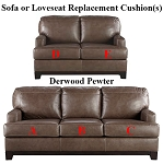 Ashley® Derwood Pewter replacement cushion cover, 8800338 sofa or 8800335 love