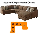 Ashley® Justyna Sectional replacement cushion and cover, 89102