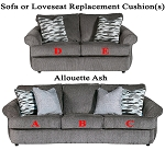 Ashley® Allouette Ash replacement cushion cover, 9350438 sofa or 9350435 love
