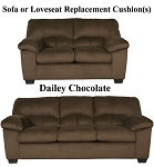Ashley® Dailey Chocolate replacement cushion cover, 9540338 sofa or 9540335 love