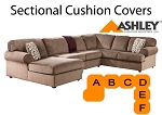 Ashley® Jessa Tan Sectional replacement cushion and cover, 39802