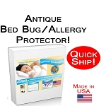 Quick Ship! Antique Size Allergy and Bed Bug Protection Bed Encasement