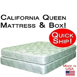 Quick Ship! California Queen Size Abe Feller® Mattress Set GOOD