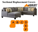 Ashley® Chamberly Sectional replacement cushion and cover, 24302