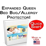 Quick Ship! Expanded Queen Allergy & Bed Bug Mattress Encasement