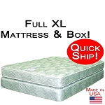 Quick Ship! Full Extra Long  Size Abe Feller® GOOD Mattress Set