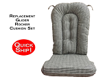 Quick Ship! Glider Rocker Cushion Set - Onyx Fabric