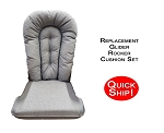 Quick Ship! Glider Rocker Cushion Set - Powder Blue