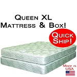 Quick Ship! Queen XL Size Abe Feller® Mattress Set GOOD
