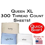 Quick Ship! Luxury Queen XL Size Sheet Sets 300 Thread Count