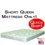 Quick Ship! Short Queen Size Abe Feller® Mattress Only GOOD