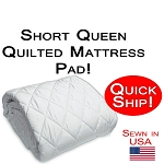Quick Ship! Short Queen Size Quilted Mattress Pad
