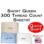 Quick Ship! Short Queen Size Luxury Sheet Sets 300 Thread Count