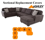 Ashley® Sorenton Sectional replacement cushion and cover, 28600
