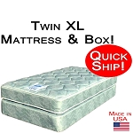 Quick Ship! Twin XL Size Abe Feller® Mattress Set GOOD