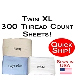 Quick Ship! Twin XL Size 300 Thread Count Luxury Sheet Set