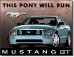 2005 Ford Mustang GT Tin Sign