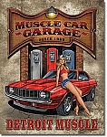 Legends Muscle Car Garage Tin Sign