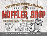 Busted Knuckle Muffler Shop Tin Sign