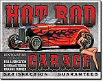 Legends Hot Rod Garage Tin Sign