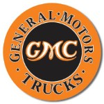 GMC Trucks Round Tin Sign