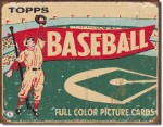 Topps Baseball Tin Sign