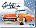 Chevrolet Bel Air 50th Anniversary Tin Sign