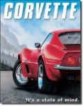 Corvette State Of Mind Tin Sign