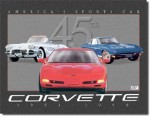 Corvette 45th Anniversary Tin Sign
