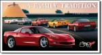 Corvette A Family Tradition Tin Sign
