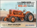 Allis Chalmers WD45 Tin Sign