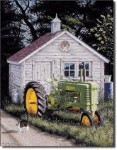 John Deere Johnny Popper Tin Sign