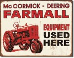 Farmall Used Equipment Tin Sign