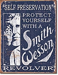 Smith & Wesson Revolver Tin Sign