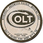 Colt Round Logo Tin Sign