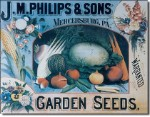 Phillips Seeds Tin Sign