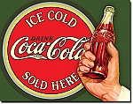 Ice Cold Coca Cola Tin Sign