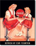 Coca Cola Refresh At Our Fountain Tin Sign