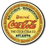 Coca Cola Keg Label Tin Sign
