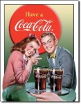 Coca Cola Young Couple Tin Sign