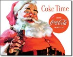 Coca Cola Santa Tin Sign