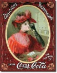 Coca Cola Victorian Tin Sign