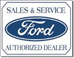 Ford Logo Tin Sign